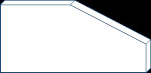 Rechteck mit schrägem Ausschnitt ohne Maße