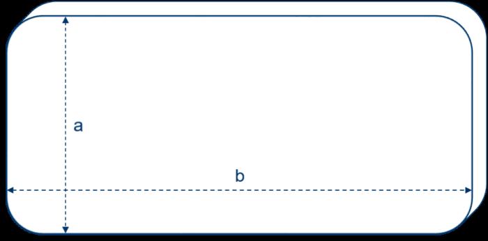 Matratze mit vier kleinen Rundungen_mit Maße-min