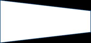 Spannbettlaken mit zwei schrägen Seiten